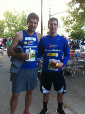 Mac and his older brother, Ike, at the Derby Half marathon in Louisville, KY a few years ago.